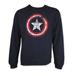 Felpa Captain America Distressed Shield