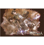 Attack On Titan - Levi Horizontal Multicross - Poster Orizzontale In Tessuto (170 X 110 Cm)