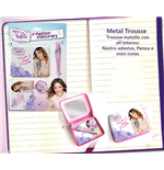 Violetta - Metal Trousse Con Penna, Nastro Adesivo E Mini Block Notes