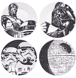 Star Wars - Plates Set Of 4   Star Wars (Set Targhe)