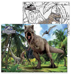 Jurassic World - Dinosauri Terrificanti - Puzzle Double-Face Supermaxi 108 Pz