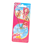 Mia And Me - Collanina Con Cuore E Farfalla Con Strass