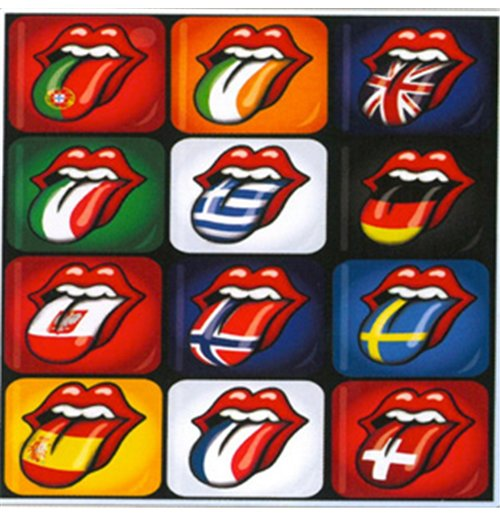 Magnete in Metallo The Rolling Stones - Tongue Evolution