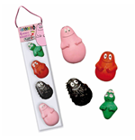 Plastoy 70059 - Barbapapa' - Set Di 4 Mini Calamite