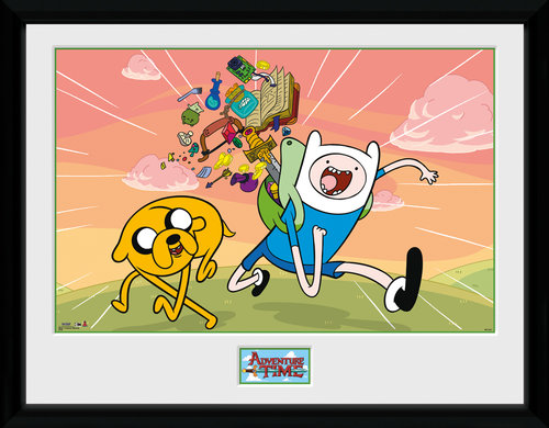 Poster Adventure Time Finn & Jake Incorniciata