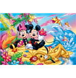Topolino - In Spiaggia - Puzzle Double-Face Plus 250 Pz