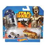 Mattel CGX02 - Hot Wheels - Star Wars - Veicolo 1:64 - Pack 2 Pz