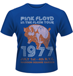 Pink Floyd - In The FLESH, Nyc 77 Tour (T-SHIRT Uomo )