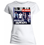 One Direction - Midnight Memories White (T-SHIRT Donna )