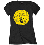 5 Seconds Of Summer - Scribble Logo (T-SHIRT Donna )