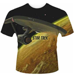 Star Trek - Enterprise (dye SUB) (T-SHIRT Uomo )
