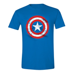 Captain America - Cracked Shield Cobalt (T-SHIRT Uomo )