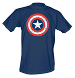 Captain America - Cracked Shield (T-SHIRT Uomo )