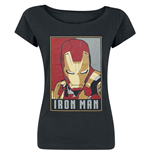 Iron Man - Obey Style (T-SHIRT Donna )