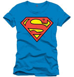 Superman - Classic Logo Blue Men (T-SHIRT Uomo )
