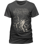 Star Wars - A New Hope One Sheet (T-SHIRT Uomo )