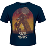 Star Wars - Sunset Poster (BLUE) (T-SHIRT Uomo )