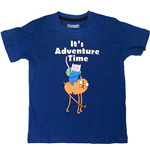Adventure Time - It's Time Blue (T-Shirt Bambino )