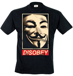 V For Vendetta - Disobey (T-SHIRT Uomo )