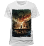Hobbit (THE) - Battle Of Five Armies - Smaug Poster White (T-SHIRT Uomo )
