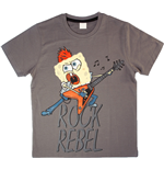 Spongebob - Anthracite Rock Rebel (T-Shirt Bambino )