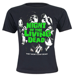 Night Of The Living Dead - Poster (T-SHIRT Donna )