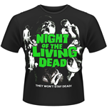 Night Of The Living Dead - Poster (T-SHIRT Uomo )