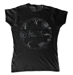 Game Of Thrones - Circle Logo (T-SHIRT Donna )