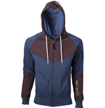 ASSASSIN'S Creed - Blue Brown Hoodie With Print (felpa Uomo )