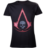 ASSASSIN'S Creed Iv - Black Red Distressed Logo (T-SHIRT Uomo )