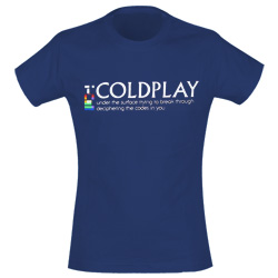 T-shirt Coldplay