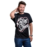 T-shirt The Rolling Stones Neon Lips Script