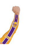 Los Angeles Lakers NBA power shooter manicotto manica tattoo arm sleeve