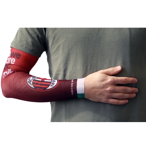 AC Milan tifoso power shooter manicotto manica tattoo arm sleeve