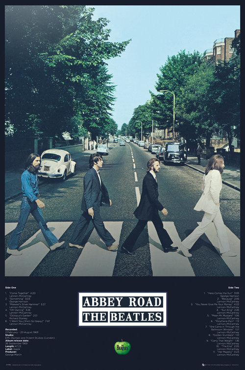 Poster The Beatles Abbey Road Tracks