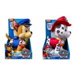 Paw Patrol - Peluche Deluxe Parlante (Marshall / Chase)