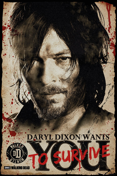 Poster The Walking Dead Daryl Needs You