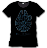 T-shirt Star Wars VII Millenium Falcon