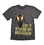 T-shirt Borderlands CL4P-TP Interplanetary Ninja Assassin - S