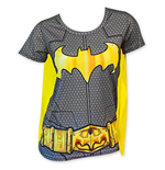 T-shirt Costume Batman da donna con mantello