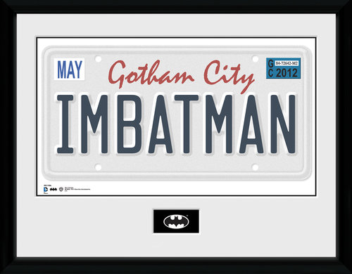 Stampa Batman License Plate