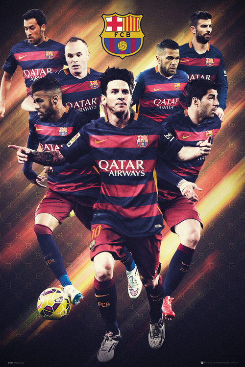 Poster Barcellona Players 15/16