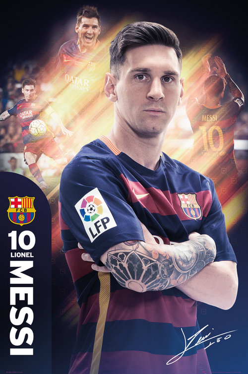 Poster Barcellona Messi 15/16