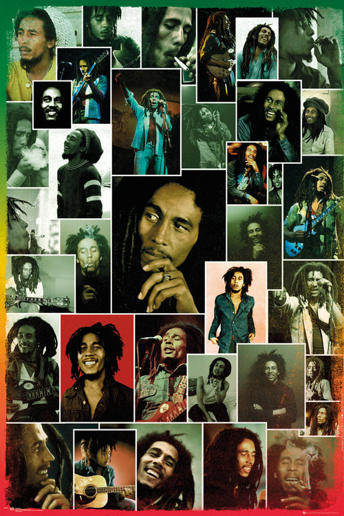 Poster Bob Marley Photo Collage