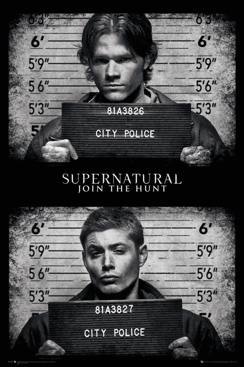 Poster Supernatural Mug Shots