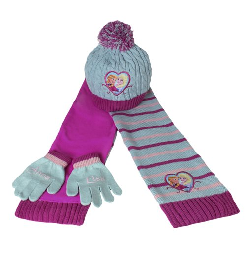 Acquista Set 3pz Cappello+guanti+sciarpa Frozen Originale dde3c1640416