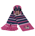 Set 3pz Cappello+guanti+sciarpa Minnie