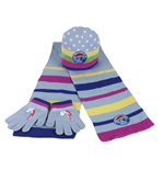Set 3pz Cappello+guanti+sciarpa My Little Pony
