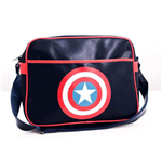 Captain America - Shield Logo Black (Borsa A Tracolla)