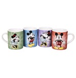 Set 4 Tazze Piccole Disney - Mickey And Minnie
